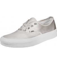 Vans Authentic Satin Lux Silver White Womens Trainers
