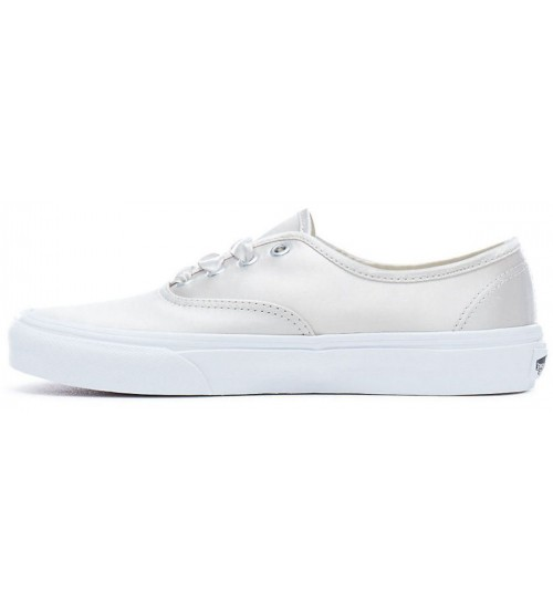 da2abfeef1 Vans Authentic Satin Lux Silver White Womens Trainers