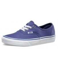 Vans Authentic Blue White Womens Canvas Trainers Shoes