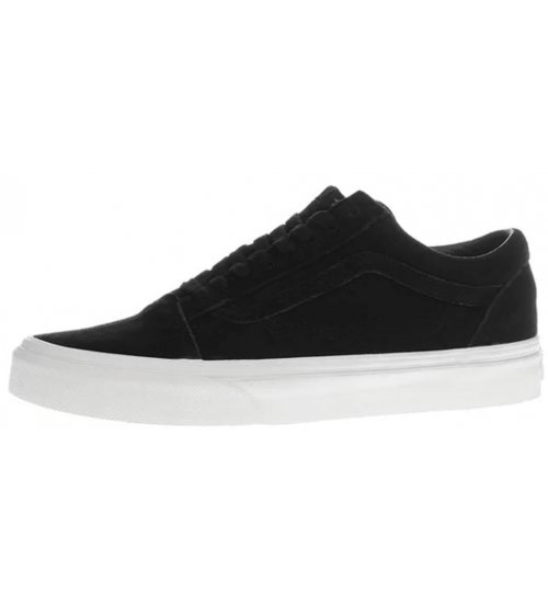 Vans Old Skool Black White Womens Suede Skate Trainers Shoes