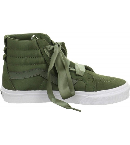 f9767e090a41 Vans SK8 Hi Ballerina Alt Lace Olive Womens Suede Trainers