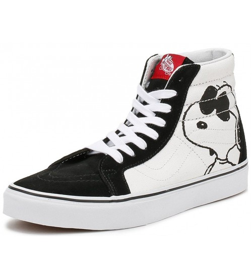 Vans X Peanuts SK8-Hi Reissue Joe Cool White Black Trainers
