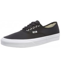 Vans Satin Lux Authentic Black White Womens Trainers