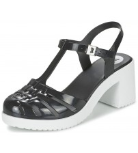 Zaxy Dream Heel Black White Womens Block Heels Sandals-3