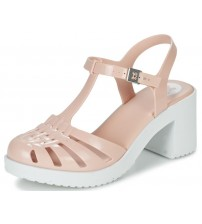 Zaxy Dream Heel Nude White Womens Block Heels Sandals-3