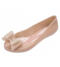 Zaxy Pop Bow 3 Nude Womens Ballerinas Flats Shoes