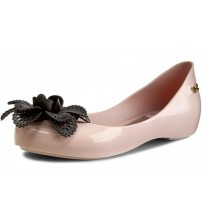 Zaxy Pop Garden Nude Black Ballerinas Womens Flats Shoes-3