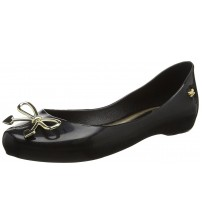 Zaxy Romantic Bow Black Womens Ballerinas Flats Shoes