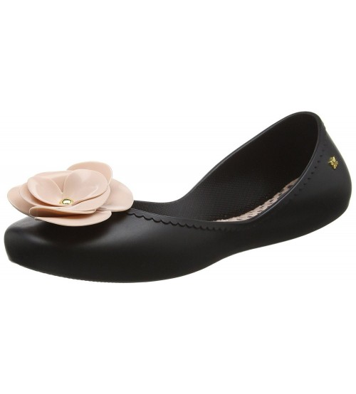 Zaxy Start Bloom Black Nude Womens Ballerinas Flats Shoes