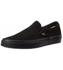 Vans Classic Black Canvas Unisex Slip-on Trainers Shoes