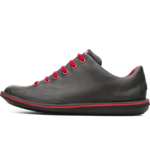 Camper Beetle 18648 Black Red Men Lo Leather Trainers