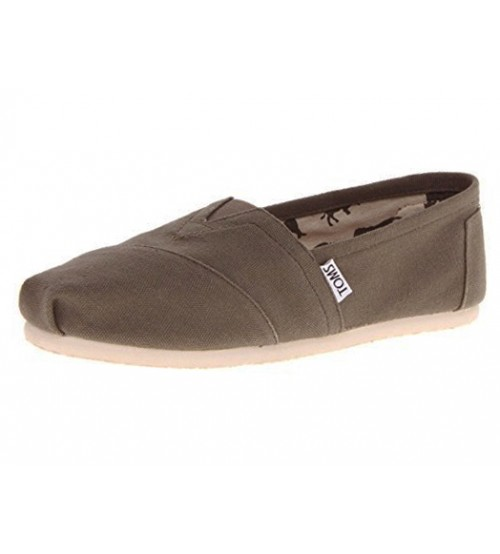 Toms Classic Militray Olive Canvas Mens Slipons