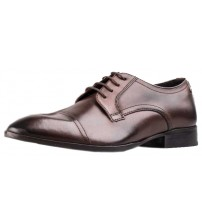 Base London Christie Cocoa Leather Mens Formal Shoes