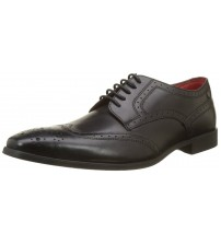 Base London Crown Black Leather Mens Brogues Formal Shoes