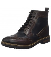 Base London Hopkins Brown Mens Mid Ankle Leather Hi Boots