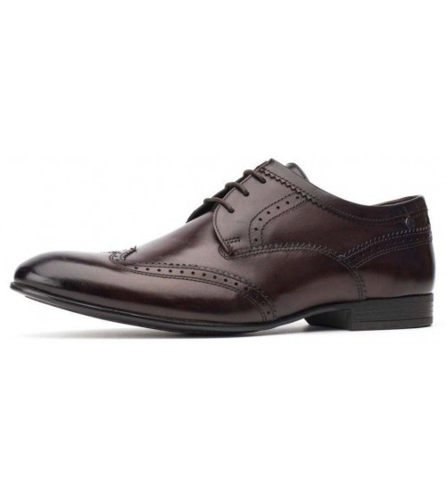 f6c15c0c195ee Base London Purcell Washed Brown Leather Mens Brogues Formal Shoes