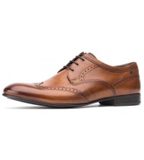 Base London Purcell Washed Tan Leather Mens Brogues Formal Shoes
