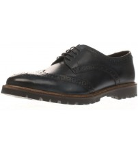 Base London Trench Blue Leather Mens Formal Brogue Casual Shoes