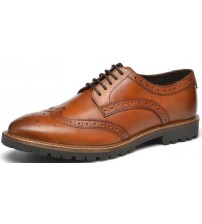 Base London Trench Tan Leather Mens Formal Brogue Casual Shoes