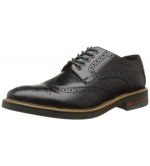 Base London Woburn Hi Shine Black Leather Mens Formal Brogue