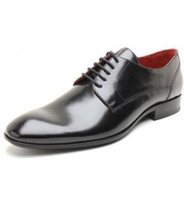 Base London Chief Black Leather Formal Casual Lace Up