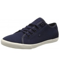 Boxfresh Mitcham Navy White Mens Canvas Trainers Shoes