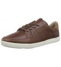 Boxfresh Cladd Chocolate White Mens Leather Trainers Shoes
