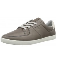 Boxfresh Cladd Grey White Mens Leather Trainers Shoes