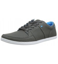 Boxfresh Spencer Grey Cyan Mens Waxed Canvas Trainers Shoes