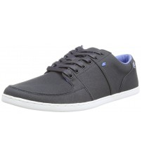 Boxfresh Spencer Navy Blue Mens Waxed Canvas Trainers Shoes
