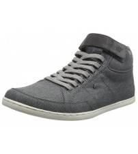 Boxfresh Swich SH Grey White Mens Half Cab Trainers Boots