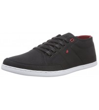 Boxfresh Sparko Black Red RIP Nylon Mens Trainers Shoes