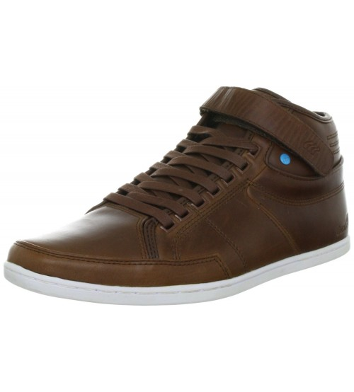 Boxfresh Swich Half Cab Chocolate New Leather Mens Shoes