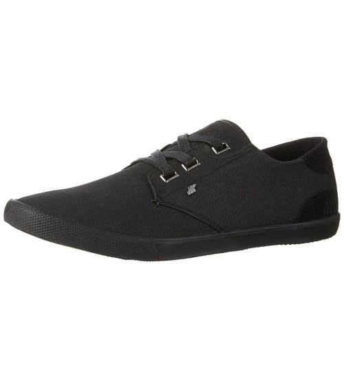 new concept 33bd9 78e31 Boxfresh Stern Black Mens Waxed Canvas Trainers Shoes