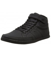 Boxfresh Swich BSC Black Mens Waxed Canvas Hi Trainers Boots