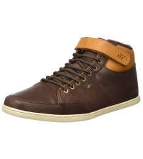 Boxfresh Swich Prem Brown Tan Mens Leather Mid Trainers