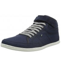 Boxfresh Swich Navy White Mens Canvas Hi Top Trainers