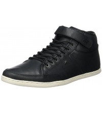 Boxfresh Swich Prem ICN Black White Mens Leather Mid Trainers Boots