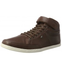 Boxfresh Swich Prem ICN Brown White Mens Leather Mid Trainers Boots