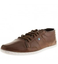 Boxfresh Sparko 4 Brown White Cyan New Mens Leather Trainers