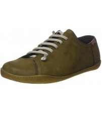 Camper Peu Cami 17665 Green Mens Leather Trainers Shoes