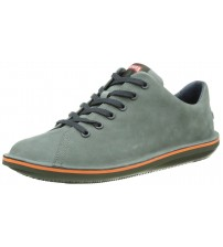 Camper Beetle 18648 Grey Orange Mens Leather Trainers Shoes