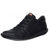 Camper Beetle 18751 Black Mens Leather Trainers Shoes