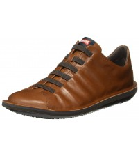 Camper Beetle 18751 Brown Mens Leather Trainers Shoes