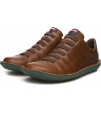 Camper Beetle 18751 Tan Mens Leather Trainers Shoes