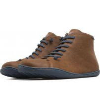 Camper Peu Cami 36411 Brown Blue Mens Leather Mid Boots