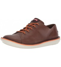 Camper Beetle K100307 Brown White Mens Leather Trainers Shoes