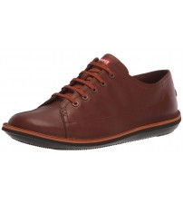 Camper Beetle K100307 Medium Brown Mens Leather Trainers Shoes