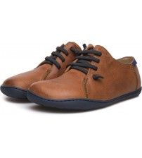 Camper Peu Cami 18736 Tan Mens Leather Trainers Shoes
