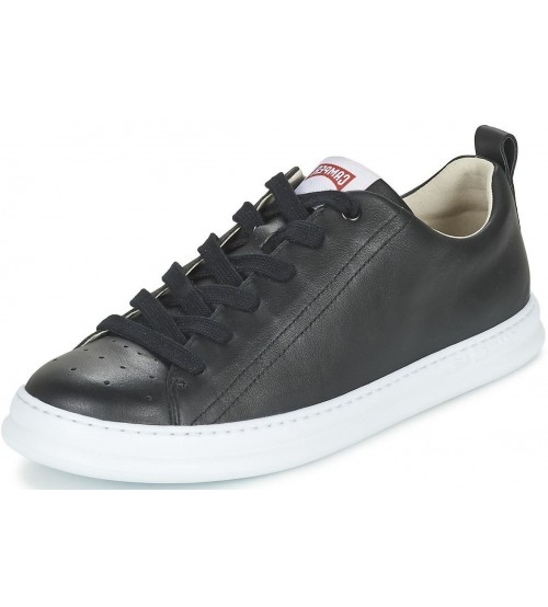 Camper Runner Four Black White Mens Leather Trainers Shoes